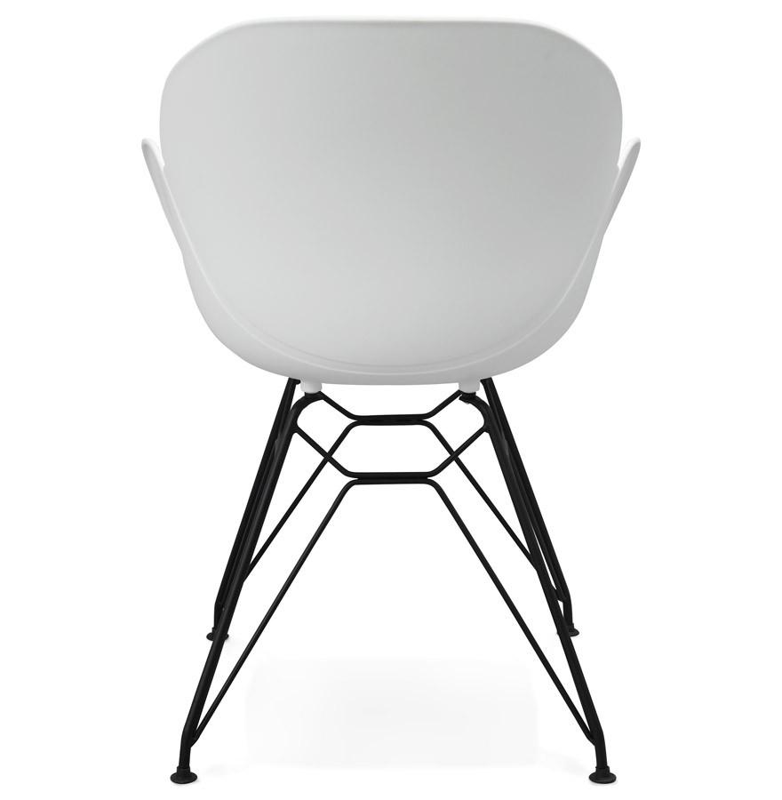 Chaise design satelit blanche chaise style industriel - La chaise blanche ...