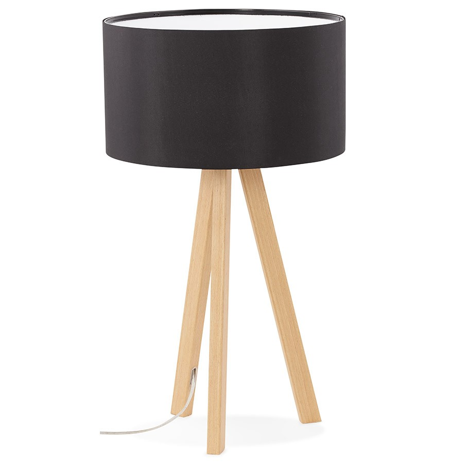 Lampe A Poser Trepied Spring Mini Noire Lampe Scandinave