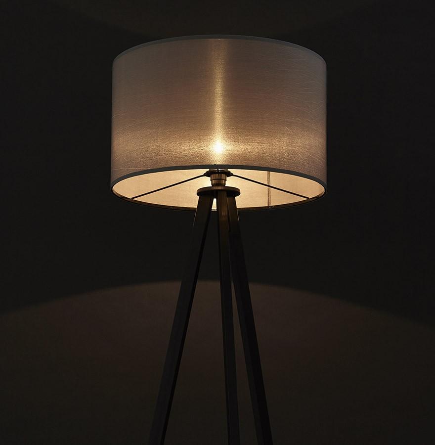 Lampadaire Trépied Spring Gris Et Noir Luminaire Design