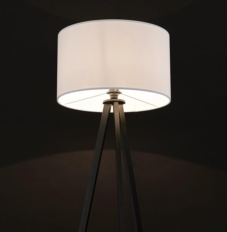 Lampadaire 3 Pieds Spring Blanc Et Noir Luminaire Design