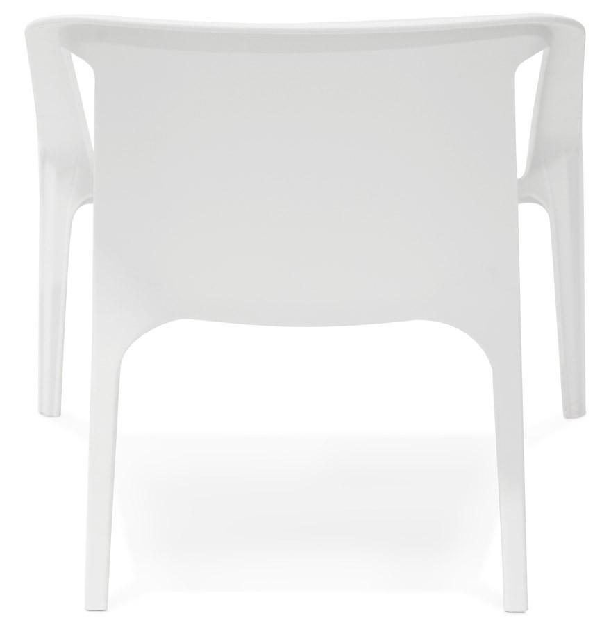 Fauteuil lounge de jardin sunny blanc en mati re plastique - Fauteuil de jardin plastique blanc ...