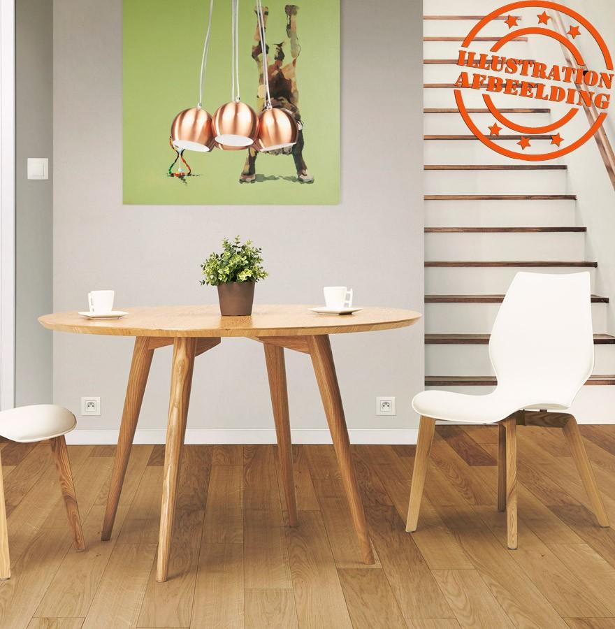 table d ner ronde swedy en bois noyer style scandinave. Black Bedroom Furniture Sets. Home Design Ideas
