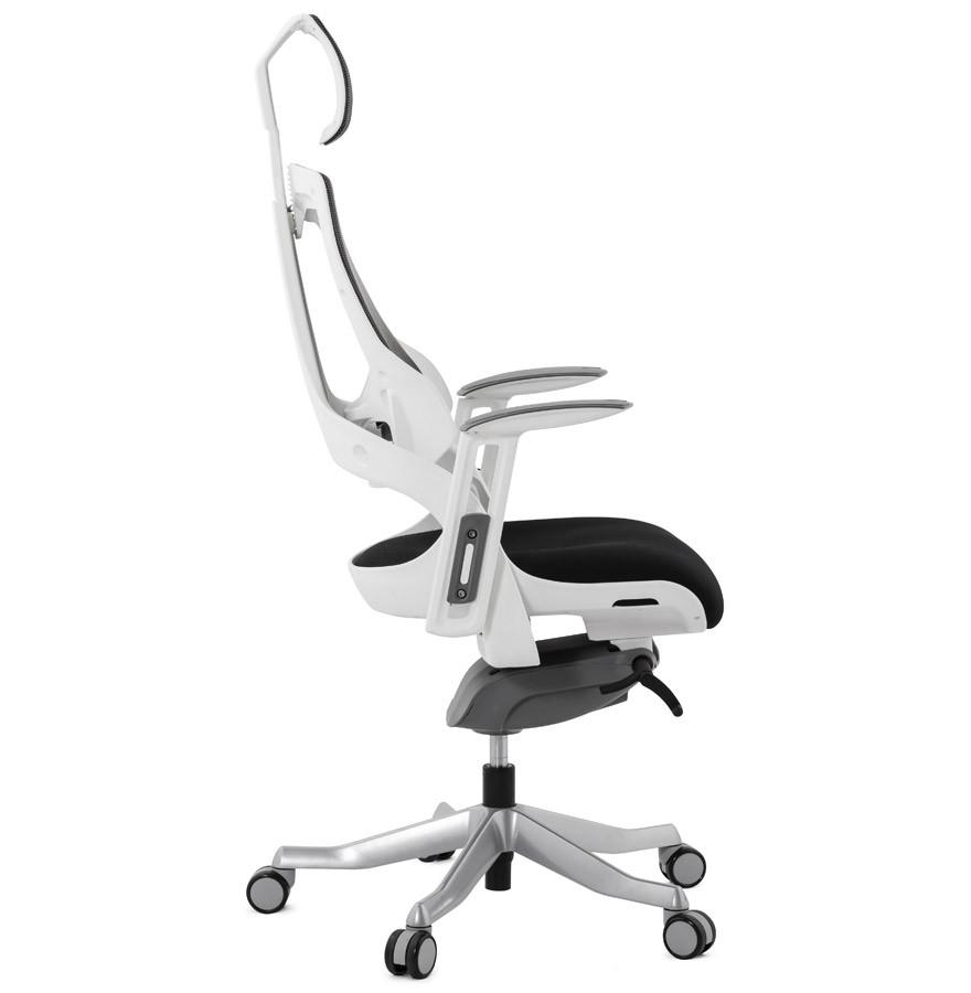 Fauteuil de bureau ergonomique TEKNIK design en tissu noir