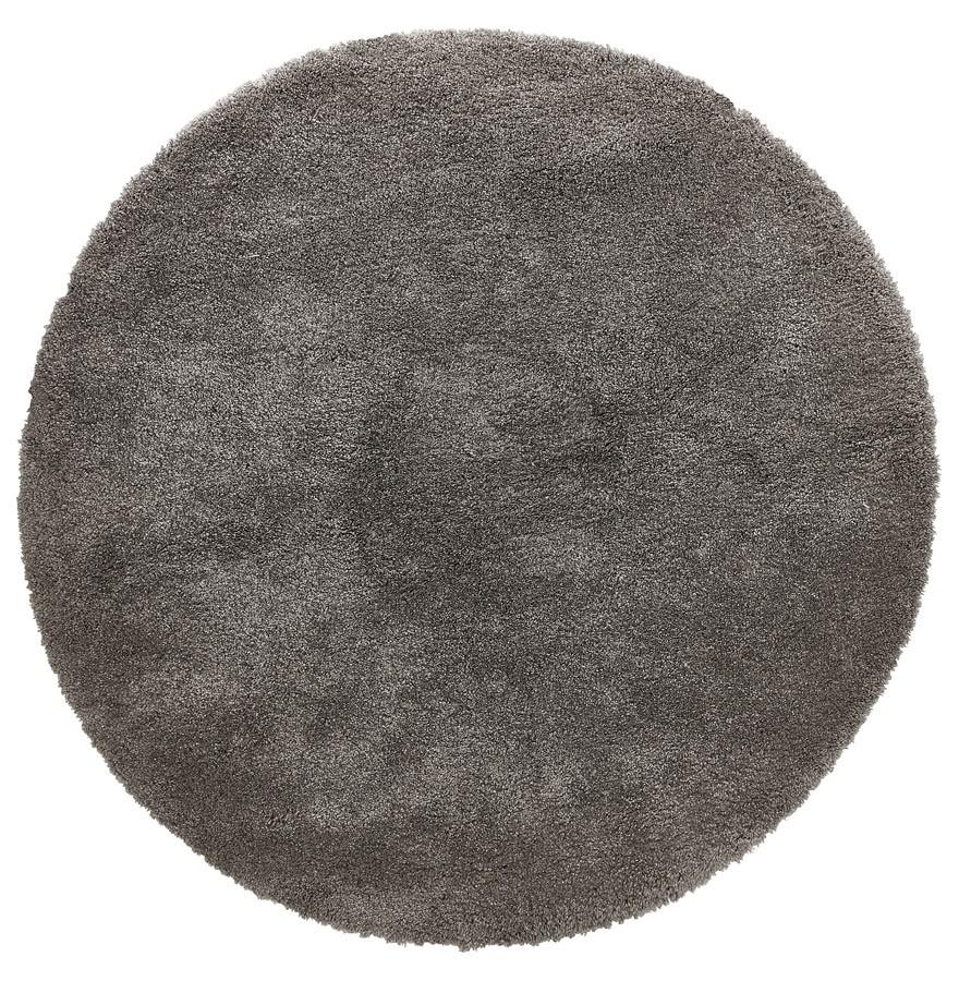 tapis rond tisso gris fonc tapis design 200 cm. Black Bedroom Furniture Sets. Home Design Ideas