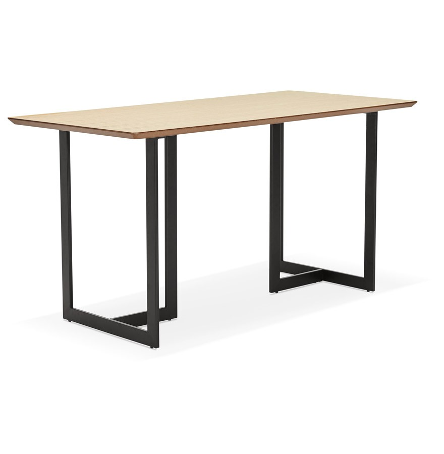 Table design titus en bois naturel bureau moderne 150x70 cm for Table bureau design