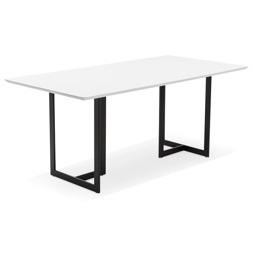 table design titus en bois blanc bureau moderne 180x90 cm. Black Bedroom Furniture Sets. Home Design Ideas