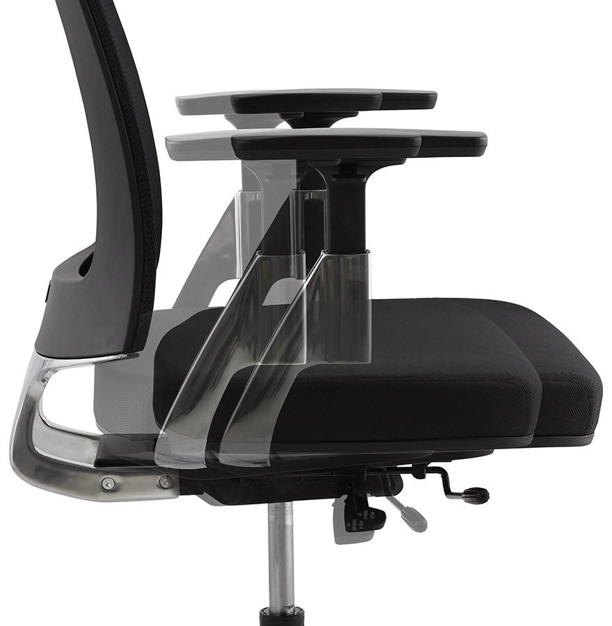 fauteuil de bureau design ultra en tissu noir. Black Bedroom Furniture Sets. Home Design Ideas