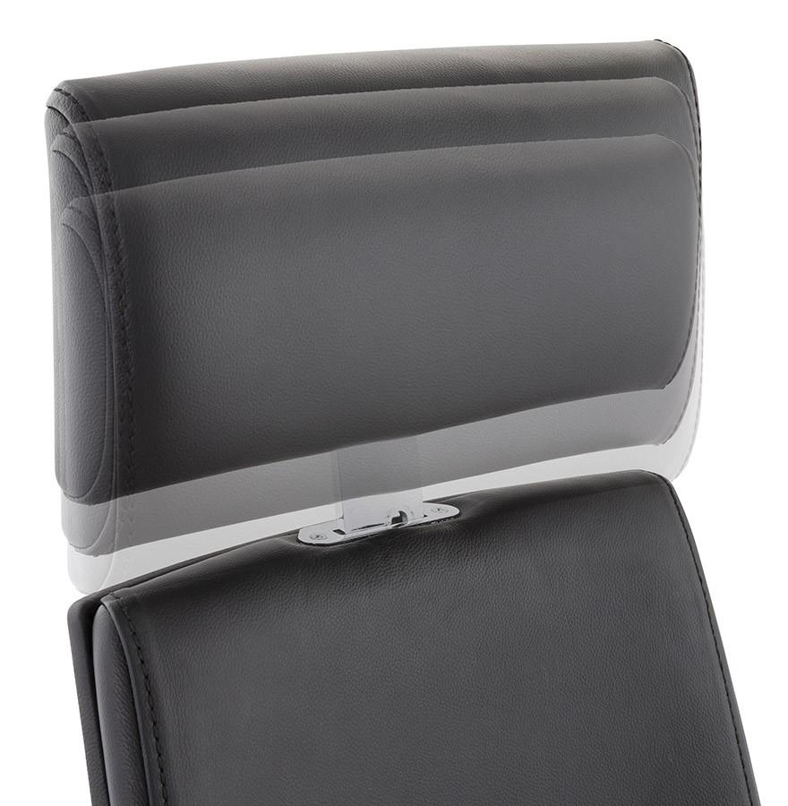 Fauteuil de bureau ergonomique vip design en cuir noir - Fauteuil cuir belgique ...