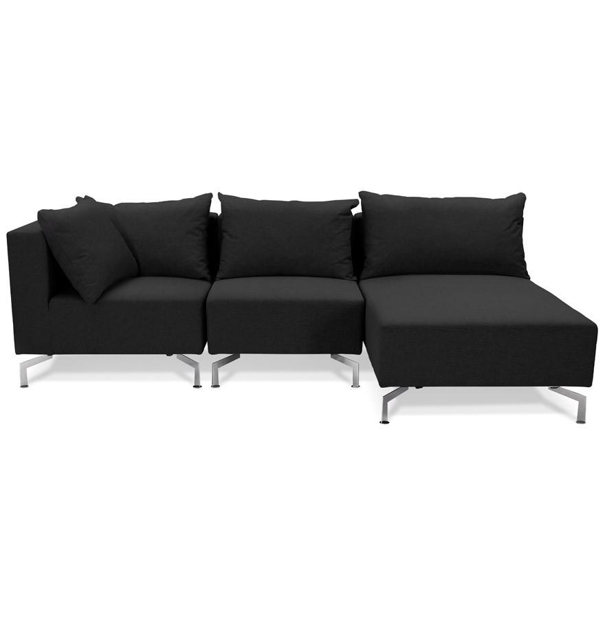 canap d 39 angle voltaire l shape noir canap modulable. Black Bedroom Furniture Sets. Home Design Ideas