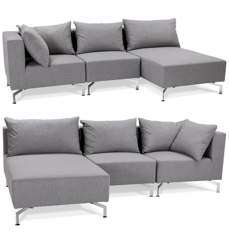canap d 39 angle voltaire l shape gris canap modulable. Black Bedroom Furniture Sets. Home Design Ideas