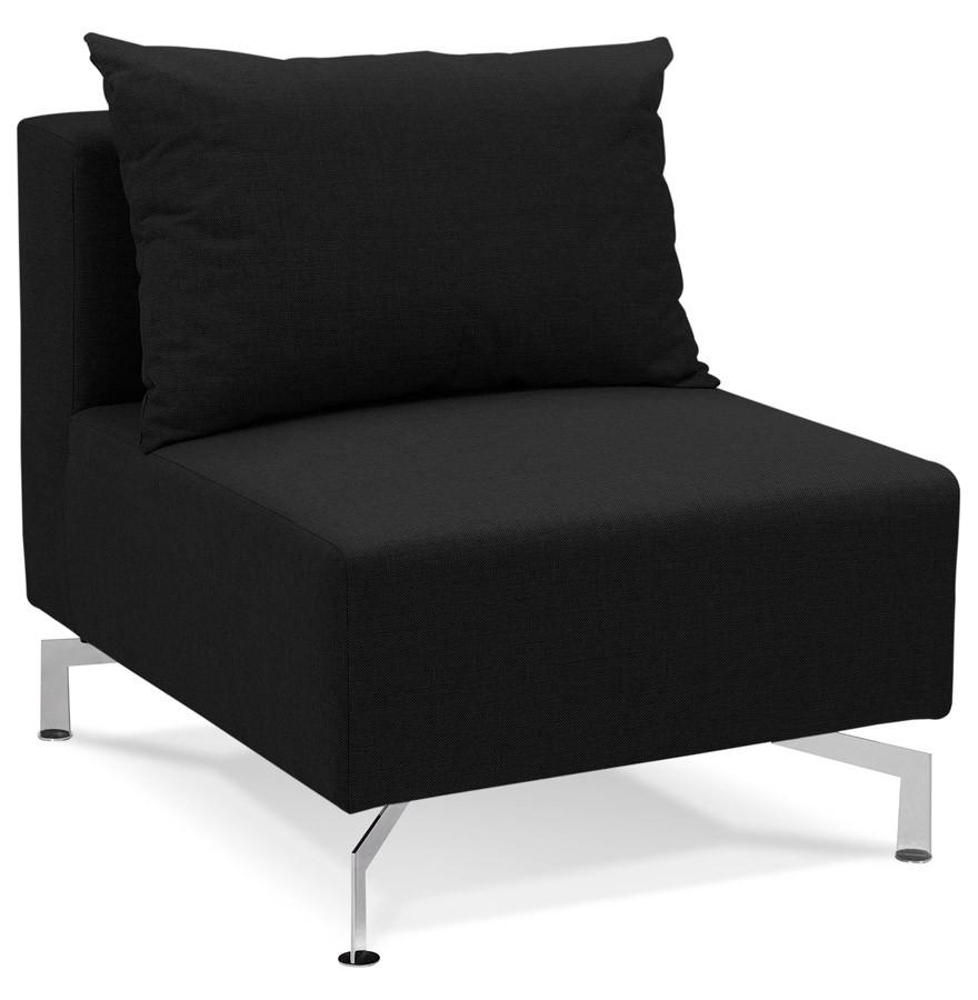 l ment 1 place voltaire seat noir canap modulable. Black Bedroom Furniture Sets. Home Design Ideas