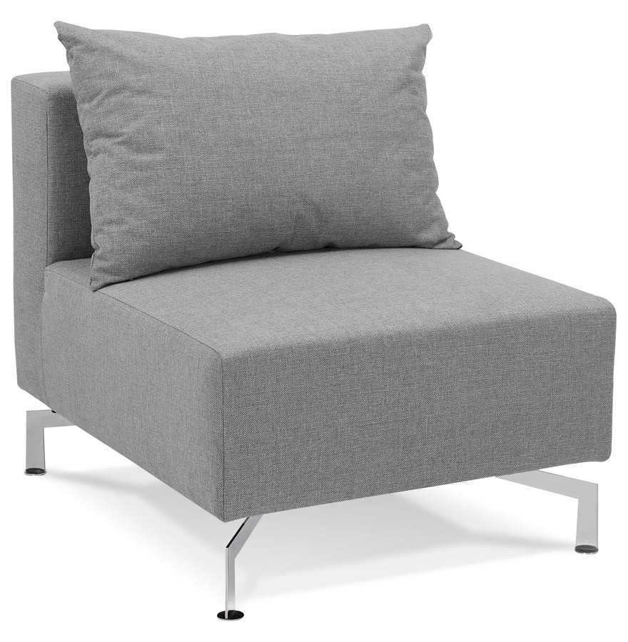 l ment 1 place voltaire seat gris canap modulable. Black Bedroom Furniture Sets. Home Design Ideas