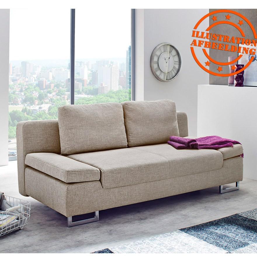 Canapé design WAZA - Canapé-lit convertible en tissu gris foncé