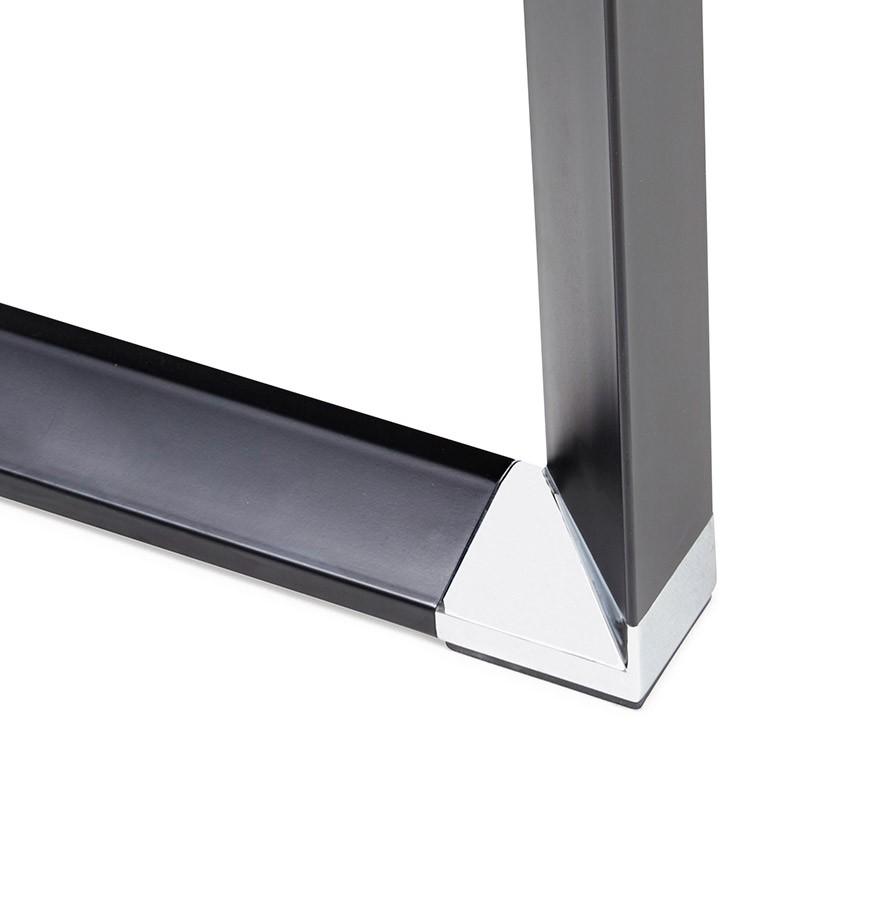 Bureau d 39 angle design xline en bois finition noyer et - Bureau d angle noir ...