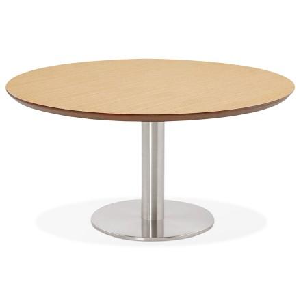Table basse lounge AGUA en bois finition naturelle - Ø 90 cm