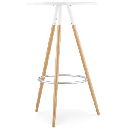 Table haute ronde 'BARY' en bois blanc