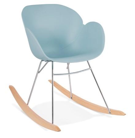 Chaise à bascule design 'BASKUL' bleue en matière plastique