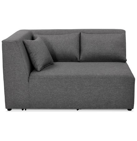 Élément de canapé modulable 'BELAGIO CORNER' gris foncé - coin angle gauche