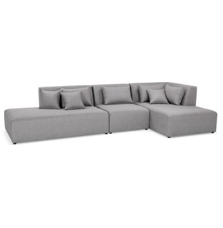 Canapé modulable design 'BELAGIO XL' gris clair (angle à droite)