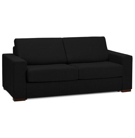 Canapé 3 places convertible en lit 'BELGO' en tissu noir