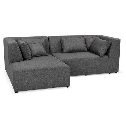 Canapé d'angle BELAGIO ANGLE gris foncé - Alterego