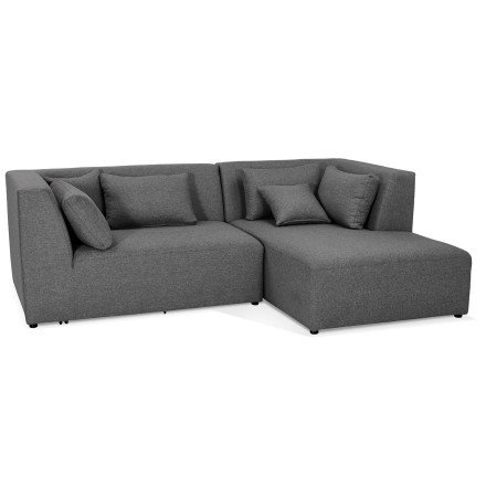 Canapé d'angle BELAGIO ANGLE gris foncé (droite) - Alterego