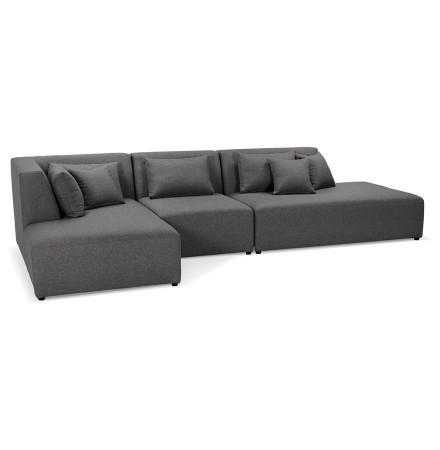 Canapé modulable design 'BELAGIO XL' gris foncé (angle à gauche)