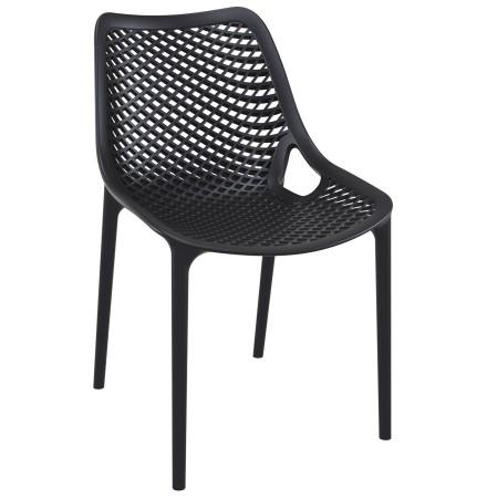 Chaise moderne 'BLOW' noire en matière plastique