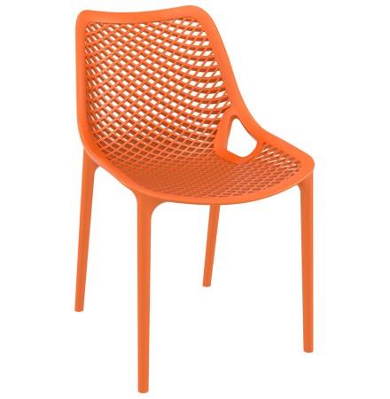 Chaise moderne 'BLOW' orange en matière plastique