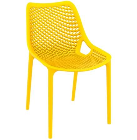 Chaise moderne 'BLOW' jaune en matière plastique
