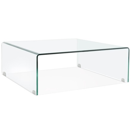 Table basse de salon 'BOBBY LOUNGE' en verre transparent