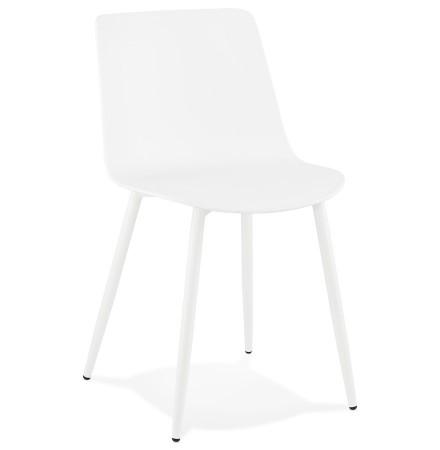 Chaise de cuisine moderne 'BRENDA' blanche