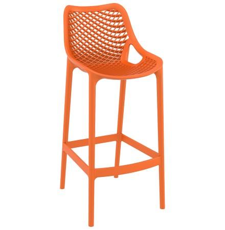 Tabouret de jardin 'BROZER' orange empilable en matière plastique