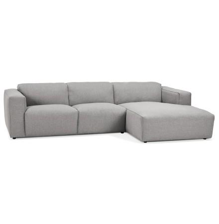 Petit canapé d'angle design 'CANYON L SHAPE MEDIUM' gris clair (angle à droite)