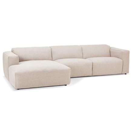 Canapé d'angle design 'CANYON L SHAPE' beige (angle à gauche)