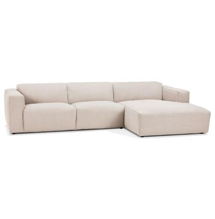 Canapé d'angle design 'CANYON L SHAPE' beige (angle à droite)