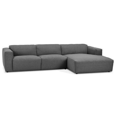 Canapé d'angle design 'CANYON L SHAPE' gris foncé (angle à droite)