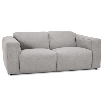 Canapé droit 'CANYON MEDIUM' gris clair - canapé 2 places design
