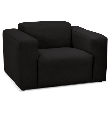 Fauteuil de salon design 1 place 'CANYON MICRO' noir