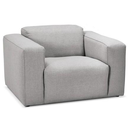 Fauteuil de salon design 1 place 'CANYON MICRO' gris clair