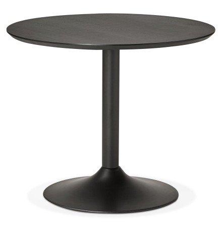 Petite table de bureau / à diner ronde 'CHEF' noire - Ø 90 cm