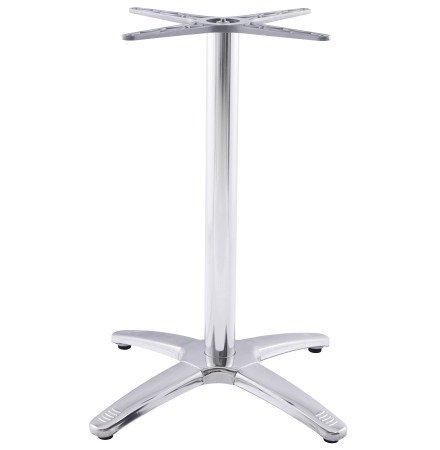 Pied de table 'CHIKO' 75 en métal chromé pour intérieur et extérieur