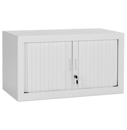 Petite armoire de bureau basse 'CLASSIFY' grise - 44x80 cm