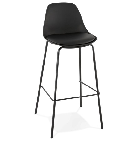 Tabouret de bar 'COOKIE' noir style industriel