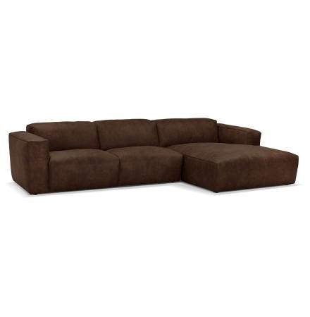 Canapé d'angle design 'COYOT L SHAPE' brun (angle à droite)