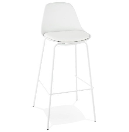 Tabouret de bar COOKIE blanc style industriel - Alterego