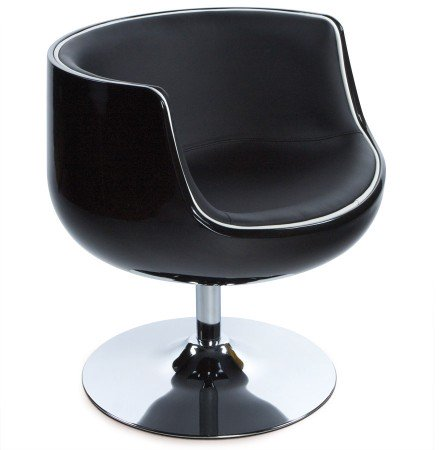 Fauteuil design 'DEKO' boule rotatif noir