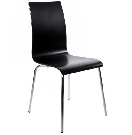 Chaise de salle à manger design 'ESPERA' en bois noire
