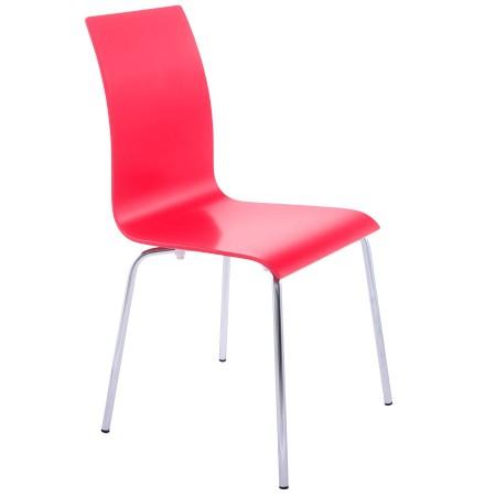 Chaise de salle à manger design 'ESPERA' en bois rouge