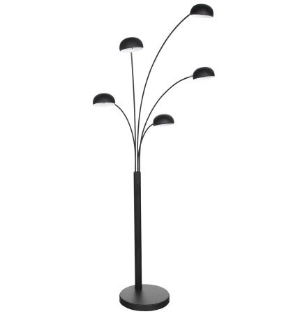 Lampadaire 5 branches 'FIVE BOWS' noir